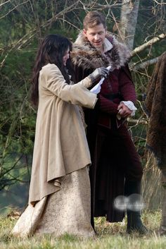 Ginny and Josh on set 11.26.13