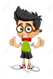 Image result for cartoon boy in glasses