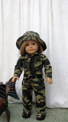 Camo Outdoor Set For American Girl Or  18 Inch by DollyShortcake, $30.00