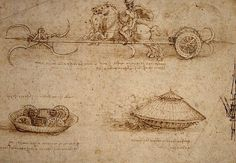 "Leonardo DaVinci, excellent at combining study, design, invention, innovation and beauty...this is his concept for a ""tank"""