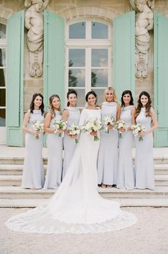 Gone are the days where weddings and wedding receptions mean securing the reception hall at one's local church that is around the corner. Fall Bridesmaid Dresses, Fall Wedding Dresses, Brides And Bridesmaids, Wedding Gowns, Wedding Venues, Bridal Veils, Bridesmaid Inspiration, Wedding Inspiration, Wedding Ideas