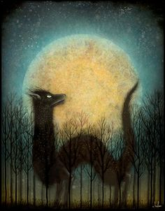 Feral Moon Rising, 2013 — Andy Kehoe Art