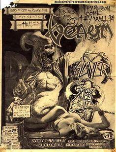 Venom live concert poster