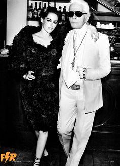"""(Scan) Now In HQ """"Vanity Fair"""" USA - July Issue.  - Kristen Stewart & Karl Lagerfeld"""