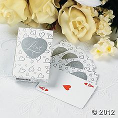 """Love"" Wedding Playing Cards, Playing Cards, Games & Activities, Toys, Games & Novelties - Oriental Trading"