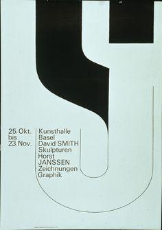found by hedviggen ⚓️ on pinterest  illustration   typography   lines   graphic design   Kunsthalle Basel — Armin Hofmann