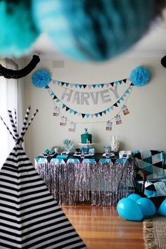 Geometric 1st Birthday Party