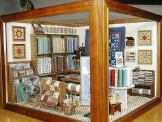 Beautiful full dressed quilt shop!