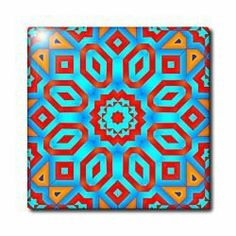 """Abstract Psychodelic Red Flower - 12 Inch Ceramic Tile by 3dRose. $22.99. Image applied to the top surface. Construction grade. Floor installation not recommended.. High gloss finish. Clean with mild detergent. Dimensions: 12"""" H x 12"""" W x 1/4"""" D. Abstract Psychodelic Red Flower Tile is great for a backsplash, countertop or as an accent. This commercial quality construction grade tile has a high gloss finish. The image is applied to the top surface and can be cleaned with..."""