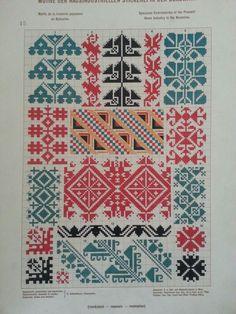 Cross Stitch Geometric, Cross Stitch Art, Cross Stitch Borders, Cross Stitch Samplers, Cross Stitch Designs, Cross Stitching, Cross Stitch Patterns, Folk Embroidery, Cross Stitch Embroidery