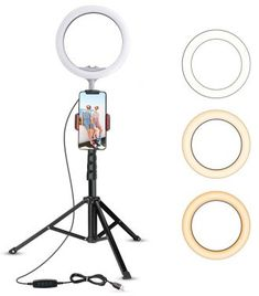 18dimmable Selfie Ring Light LED Camera Ring Light for Real-time Streaming//Makeup//YouTube Video LING AI DA MAI Ring Light kit Compatible with iPhone Android