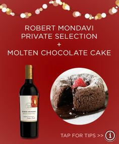 Private selection Molten Chocolate, Chocolate Cake, Dry Red Wine, The Selection, Drink, Melted Chocolate, Chicolate Cake, Melting Chocolate, Chocolate Cobbler