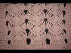 YouTube Crochet Stitches Patterns, Crochet Chart, Baby Knitting Patterns, Knitting Stitches, Crochet Designs, Stitch Patterns, Hairpin Lace Crochet, Tunisian Crochet, Baby Blanket Crochet