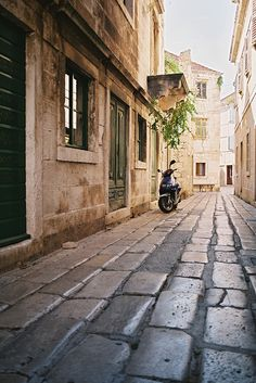 In the town of Vis, Croatia