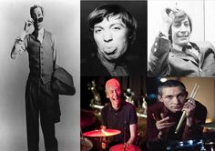 Charlie Watts ~ Born Charles Robert Watts 2 June 1941 (age 74) in Kingsbury, London, England.  English drummer, best known as a member of The Rolling Stones. Originally trained as a graphic artist, he started playing drums in London's rhythm and blues clubs, where he met Brian Jones, Mick Jagger, and Keith Richards. In 1963, he joined their group, the Rolling Stones, as drummer, while doubling as designer of their record-sleeves and tour-stages.