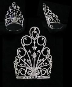 beauty pageant crowns large | ... Wedding Jewelry Large Rhinestone Crystal Beauty Contest Pageant Crowns Glitz Pageant, Pageant Crowns, Beauty Pageant, Tiaras And Crowns, Crystal Headband, Crystal Rhinestone, Pageant Photography, Crown For Women, Royal Crown Jewels