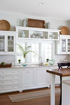 30 Ways To Decorate Above Kitchen Cabinets White Kitchen Cabinets Cabinets Decorate Kitchen Ways Decorating Above Kitchen Cabinets, Above Cabinets, White Kitchen Cabinets, Kitchen Cabinet Design, Painting Kitchen Cabinets, Kitchen White, Open Cabinets, Kitchen Shelves, Kitchen Storage