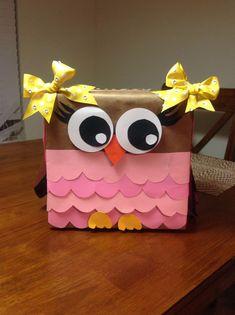Owl Valentine Box | valentine box