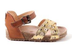 Ocra+606+sandaaltjes++cognac+bloemtjes+(maat+23-30)+