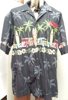 Winnie Fashion Made in Hawaii Xl Cotton Woody Cars Extreme Motorsports LTD  #WinnieFasion #ButtonFront