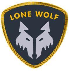 Camper badge - lone wolf