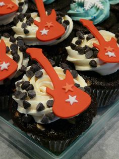 I Love Rock n Roll - our Rocky Road cupcake