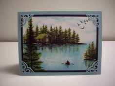 Lakeside Cabin by Laurie Thompson - Cards and Paper Crafts at Splitcoaststampers