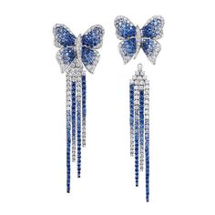 Sapphire and Diamond Earrings. #Butterfly#