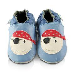 Snuggle Feet – Suaves Zapatos De Cuero Del Bebé Pirata (12-18 meses)