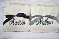 Personalized Gift, Wedding, Everyday Plush Fleece Robe w/ Embroidery - 3 colors!