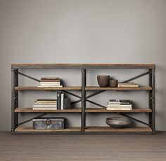 French Library Console - Natural Antiqued Iron | Console Tables | Restoration Hardware