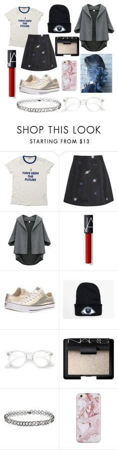 """""""Outer Space"""" by liljmac ❤ liked on Polyvore featuring Levi's, Lulu and Co., Converse, NARS Cosmetics and Miss Selfridge"""
