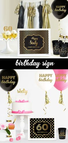 60th Birthday Decorations 60th Birthday For Men or by ModParty