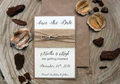 Wedding Save the Date Cards Rustic Wedding Save by PaperStudioByC