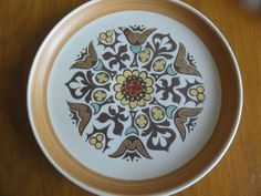 "Denby Canterbury Plate 10"" Vintage made in England Pottery"