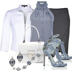 work outfits | Work Outfits | Job Interview | Fashionista Trends  - LOVE< LOVE those shoes, although would be hard to pull off at work, so I say stay seated ladies :)