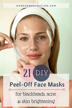 Best Homemade Peel Off Face Mask Recipes, to help you with Blackheads, Acne and Skin Blemishes. DIY masks made of Honey, Charcoal, Cucumber, etc.