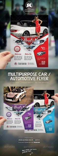 Automotive Car Sale Rental Flyer Ad Template, Ads and Cars - car flyer template
