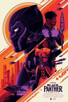 Black Panther Regular Edition by Tom Whalen – Grey Matter Art Marvel Movie Posters, Movie Poster Art, Marvel Characters, Marvel Movies, 80s Posters, Wall Posters, Black Panther Art, Black Panther Marvel, Panther Print