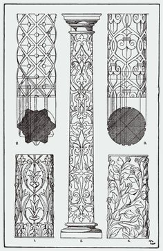 """Do you see any Zentangle tangles? ~ From, """"A Handbook of Ornament"""". 1898 by Franz Sales Meyer."""