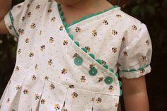 Pleated wrap dress tutorial