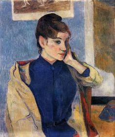 Paul Gauguin, Portrait of Madeline Bernard (1888), oil on canvas, 58 x 72 cm.