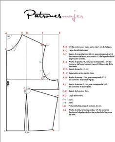 Trazado del patrón base delantero. - Blog de costura, moda y patrones -