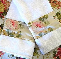 WOODSTOCK Custom Decorated Cream Hand Towels   Ralph by Sew1Pretty, $17.00