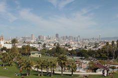 San Francisco San Francisco Skyline, Dolores Park, Usa, Travel, Voyage, Trips, Traveling, Destinations, Vacations