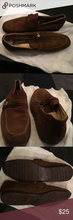 Joseph Abboud suede loafers Brown suede loafers, worn once. Joseph Abboud Shoes Loafers & Slip-Ons