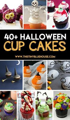45 Spooktacular Halloween Cupcakes 40 Super cute spooktacular Halloween cupcakes to make this Halloween extra delicious. Super easy super spooky these Halloween cupcakes are a must try. Source by funlovingfamilies Halloween Desserts, Halloween Cupcakes Easy, Halloween Cookies, Halloween Treats, Halloween Cupcakes Decoration, Halloween Costumes, Halloween 2018, Fete Halloween, Halloween Crafts For Kids