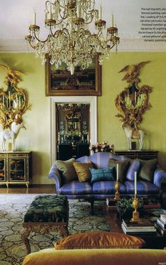 Eye candy from the October 2009 British House and Garden….    gorgeously bejeweled salon…