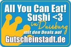 Mit Glück günstig #Sushi essen in #Duisburg mit #Gutscheinstadt