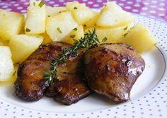 Sült libamáj tárkonyos burgonyával